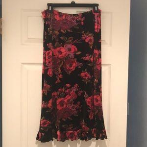 Betsey Johnson crushed velvet skirt